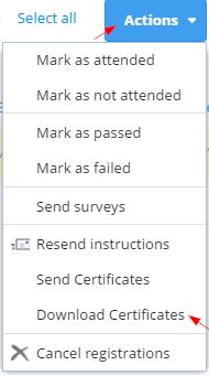 download and print certificates for registrants arlo online